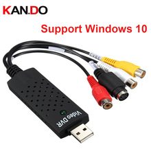 support Windows 10 USB DVR Video capture usb video capture adapter for changing video to display on PC USB DVR card(China)