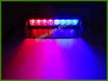 8 Led Flash Boat Truck Car Flashing Warning Emergency Windshield Unit 3 Mode Strobe Light Lamp Blue/Red