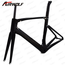 Newest OEM carbon road bike frame BB386 bottom bracket framework carbon 700c chinese cheap carbon frames road bike(China)