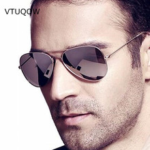 Luxury Aviator Polarized Sunglasses Men Women Brand Designer Retro Vintage Driving Sun Glasses Men Female Male Sunglass Mirror