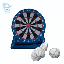 3m 9.8ft Giant Inflatable Football Dart Board Soccer Game with 6pcs Velcro Soocer Balls