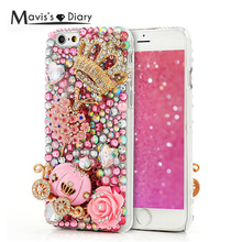 Buy 3D Glitter Luxury Diamond Case iPhone 5 5S SE 5C 6 6S Plus 3D Bling Back Cover Samsung Galaxy S5 S6 Edge Plus Note 5 for $8.08 in AliExpress store