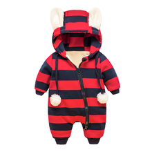 Cartoon Baby Winter Romper cotton-padded One Piece Newborn Baby Girl Warm Jumpsuit Autumn Fashion baby's wear Kid Climb Clothes(China)