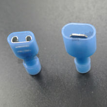 "Male & Female Blue Spade Crimp Connector Wire Terminal 1/4"" MF Fully Insulated x 40"
