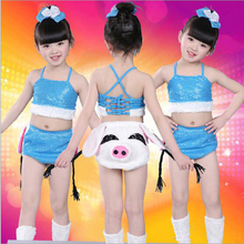 Bazzery Cartoon Animal Modeling Cute Pig Performance Suit Piggy Cosplay Costumes for Kids Stage Show Clothes Boy Girl Drama Wear(China)