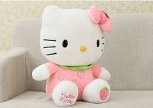 cute fruit design pink strawberry large 38cm hello kitty plush toy soft doll high quality birthday gift b4978(China)