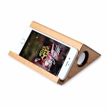 2017 New Arrival Wooden Speaker Bluetooth Wireless Speaker Unique Triangle Wood Portable Desk Computer Loudspeaker Box TF Card