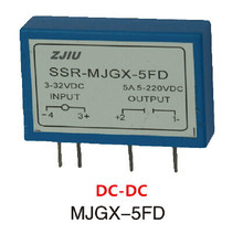 PCB TYPE DC-DC solid state relay 5a pcb ssr small type input 3-32vdc, output 220VDC, mould :MJGX-5FD free shipping