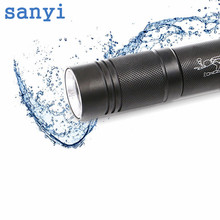 High quality and ultra bright XM-L T6 IPX8 Waterproof 3-Mode torch Light LED Diving Flashlight under water 20 meters black color(China)