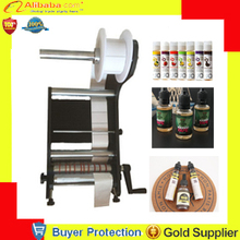 Free Shipping manual Round Bottle Labeling Machine Labeler Machine labelling machine round can wine cylinder sticker