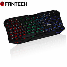 Original FANTECH K10 Backlight Gaming Professional Keyboard Blue Switches Metal Wired USB Game Keyboard 112 Key For Pro PC Gamer
