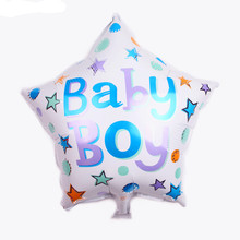 TSZWJ New High Quality Five Point Star Hearts Baby Boy and Girls Aluminum Balloon Children Toys Party Decorative Balloon(China)