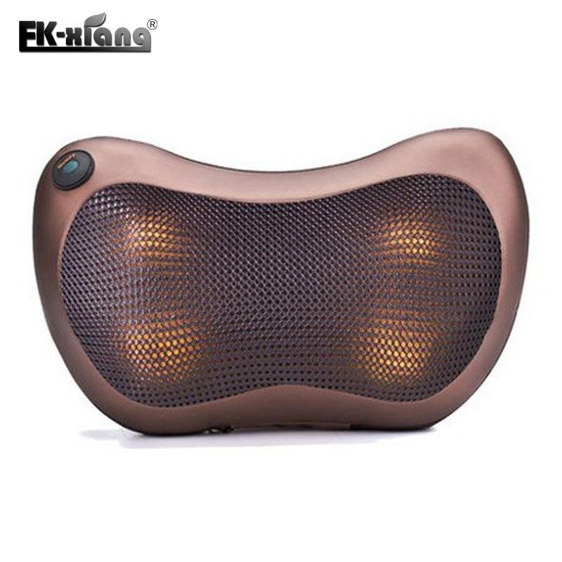 Home Car dual-use Multifunction Dish Massager Car Massage Pillow Cervical Lumbar Leg Massager Infrared Heating Body Massager<br>