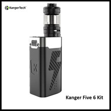 Kangertech Five 6 Electronic Cigarette Kit 8ML 222W Top Filling System Powered by 5pcs 18650 Batteries Kanger Five6 Vape Kit(China)