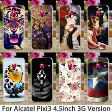 Phone Cases For Alcatel OneTouch Pixi 3 only for 3G Version 4027 4028 OT 4027X Case Hard Back Cover Skin Housing Sheaths Bags