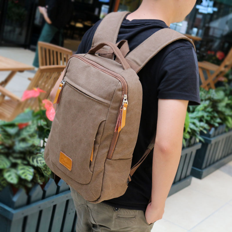 New fashion male backpack, canvas laptop bag of 14 inch, mens backpack for school student,fashion design unisex canvas backpack<br><br>Aliexpress