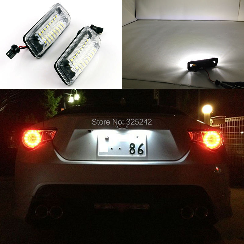 For Toyota 86 GT-86 FT-86 2012 2013 2014 No OBC error Excellent Ultra bright 3528 Epistar Led License plate lamp light<br><br>Aliexpress