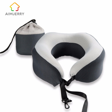 U-Shape Travel Pillow in the Car Memory Foam Neck Pillow Comfortable Cervical Pillows Sleep Folding for Airplane Cushion Neck(China)