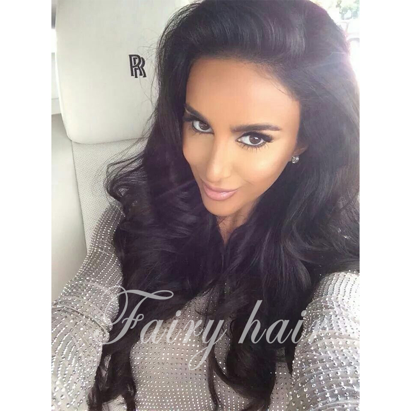 2017 Hot Sale New Synthetic Wigs 26 Long Wave Body Black Hair Wig For African Americans Women Free shipping<br><br>Aliexpress