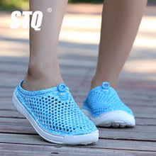 STQ 2017 New Women summer jelly shoes beach sandals women hollow slippers flip flops women light sandalias