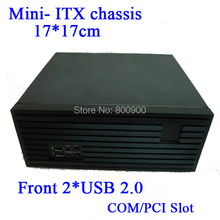 Mini- ITX chassis small chassis drawing panel full height PCI card expansion MINI ITX motherboard of choice(China)