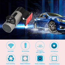 Full HD 1080P Wifi Mini Car DVR Camera Video Recorder Flat Angle Single Lens G-sensor Dash Cam One Key to Capture Night Vision(China)