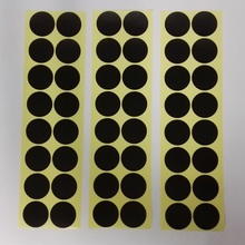 500pcs Black Scrapbooking Plain Round Sticker Cookie/Cake/Gift Labels Stickers Kitchen Sweets Party Seal Sticker(China)