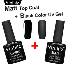Yinikiz Base Gel Matte Top Coat Shiny Gel Polish UV LED Gel Lak No Clean Matt Top Coat Gel Nail Polish Art Designs Tips(China)