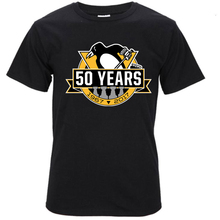 Pittsburgh Penguins Mens O Neck T-Shirt Man 100% Cotton Cool Tees T Shirt Tops(China)
