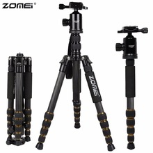 ZOMEI Z699C Carbon Fiber Portable Professional Tripod & Ball Head Compact Travel for Canon Sony Nikon Olympus DSLR Video Camera(China)