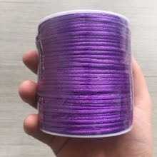 YUMUZ 2mm purple Satin Nylon Cord Knotting cord Jewelery supplies For Necklace Jewelry Crafts 100 meter
