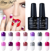 Buy Beau Gel 30pc/Lot Temperature Change Color UV Gel Nail Polish Soak Bling Thermo Nail Gel Varnish Glitter Thermal Gel Lacquer for $43.15 in AliExpress store