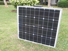 100w 12V mono portable folding solar panel for 12v battery , car, RV,camping,boat,home ,free shipping(China)