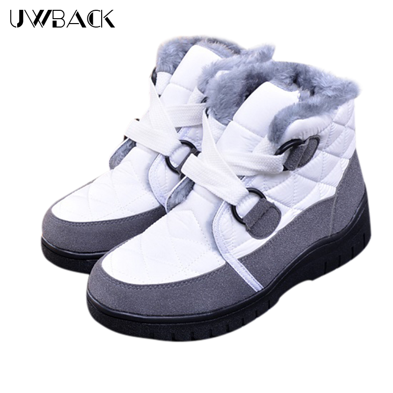 2017 New Brand Winter Snow Boots Women High Tops Lace-Up Fur Ankle Boots Mujer Wedges Warm Anti-skid Buckle Fashion Shoes XJ119 <br><br>Aliexpress
