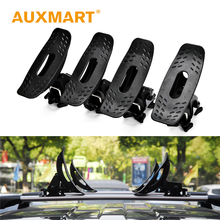 Auxmart Universal Car Roof Rack Cross Bars holders Soft Rubber Pad Brackets Auto Roof Rails Rack Carrier Kayak Canoe Surf Board(China)