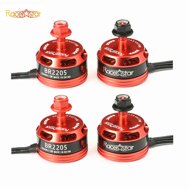High Quality 4pcs Racerstar Racing Edition 2205 BR2205 2600KV 2-4S Brushless Motor CW/CCW For QAV250 ZMR250 260 280 RC Model<br>
