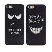 Don't Touch My Phone and We're All Mad Here Style Shell Hard Plastic Case Cover for Apple iPhone 4 4S 5 5S 5C 6 6S 7 Plus