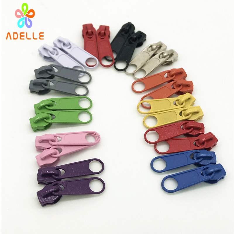 Zipper slider for Nylon PVC zip tape size 5 Slider Pull Zipper replace Non Lock