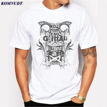 KOMNUDT Rock Skull Design T Shirts Men 2017 Hot Sale Fashion Brand Mens Casual 3D Printed T Shirt Modal Men Clothes Plus Size(China)