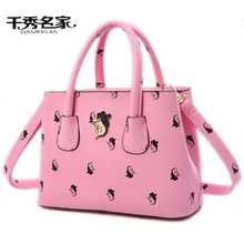 QXMINGJA high capacity hand bag,Five colors Flower Printing Multifunction lady crossbody bags,women shoulder bag,messenger bags