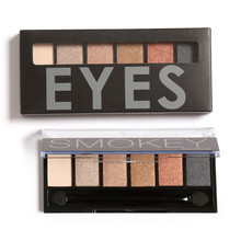 Focallure Naked Smoky Eye Shadow Palette Natural Eyeshadow Makeup 6 Color Make Up Shimmer Matte Eyeshadow Cosmetics with Brushes