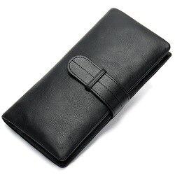Мужской удлинённый кошелёк-клатч из натуральной кожи