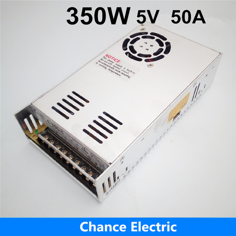 Switching Power Supply(S-350-5) Cooling Fan AC to DC  50A 5V power supply 350W<br>