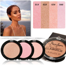 Brand Professional Pressed Powder Highlighter Illuminator Shimmer Skin Perfect Maquiagem Face Brighten Shiny High Light Powder(China)