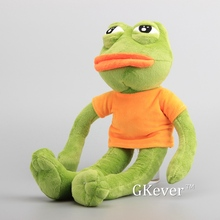 "High Quality Green Frog Plush Toys Dolls Soft Stuffed Animals 17"" 43 CM Children Gift(China)"