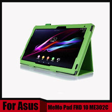 For Asus memo pad FHD 10 ME301T ME302 ME302C ME302KL case 10.1 inch tablet Pu leather cover + stylus