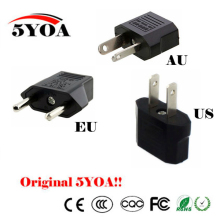 Universal US EU AU Plug USA Euro Europe Travel Wall AC Power Charger Outlet Adapter Converter 2 Round Socket Input Pin