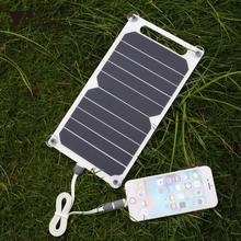 amzdeal 5V 5W Solar Power Charging Panel Travel Charger For Smart Phone Tablet Portable Mini Solar Panel DIY Power Supply Bank(China)