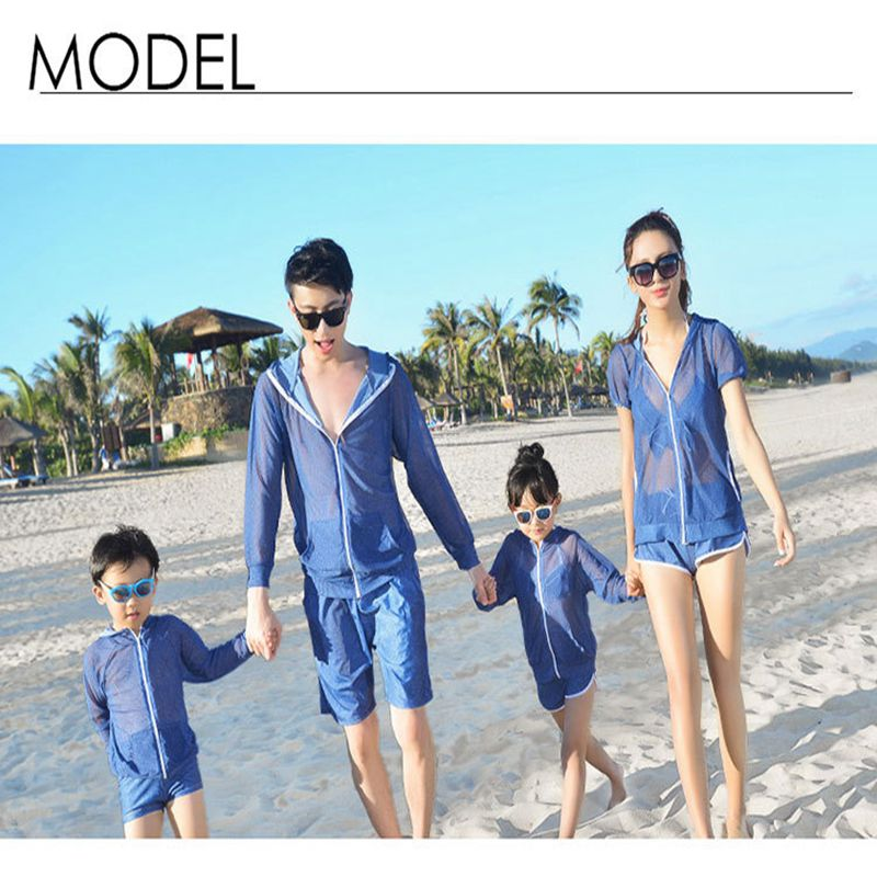 Family swimwear father mother kids bikini bodysuit swimsuit couple swimming suit summer beachwear four-pieces swimwear<br><br>Aliexpress