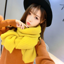 SH028 New Brand Luxury Scarf Women Autumn Winter Scarf Warm Lovers Couples Knit Scarf Solid Color Plain Shawl Men Scarves Female